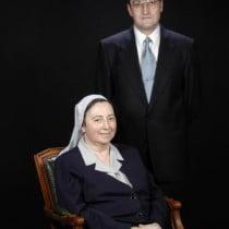 Sr. José Román López, Sra. Sor M. Jesús Beortegui Arrondo