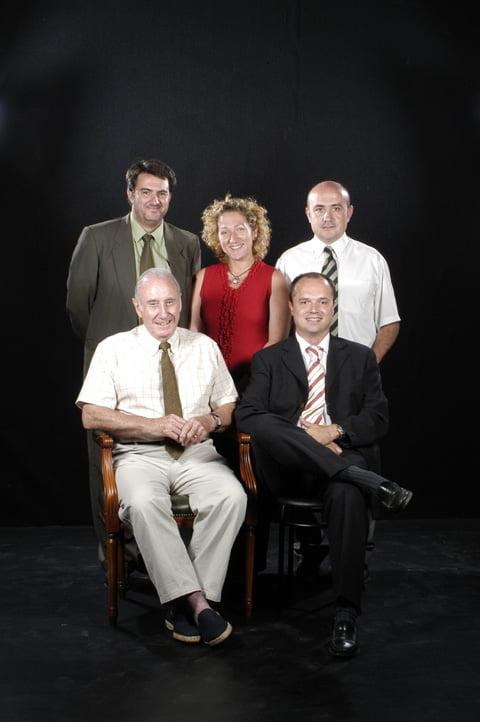 Sr.Lluís Gay Aragó, Sr. Joan Port Martí, Sr. Gabriel López, Sr. Jordi Ubach i Sra. Carme Rigol