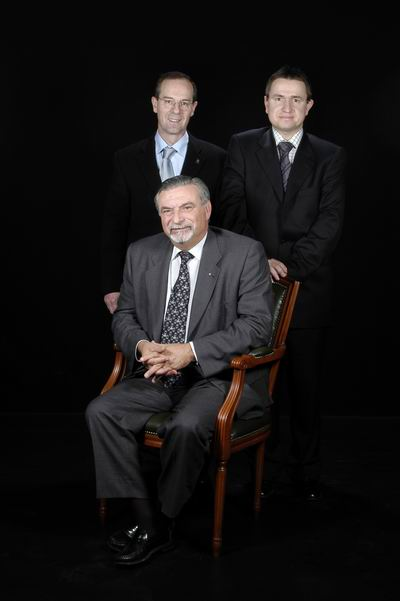 Dr. Carles Garriga Parés, Dr. Josep Tuneu Valls i Dr. Joan Riera Martí