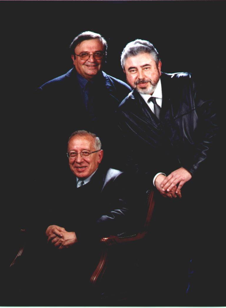 Mn. Andreu Pasqual, Mn. Joan Francesc García F. De Prado i Sr. Josep M. Rosés