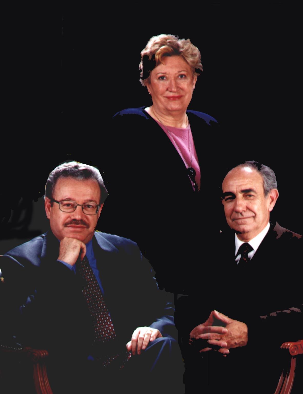 Srs. Vicenç Lluch, Adolf Gilabert i Sra M. Assumpció Subirà