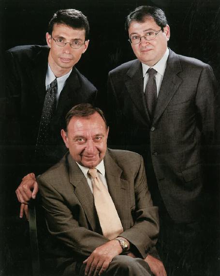 Sr. Pere Cuch Castellví, Sr. Enric Bonmatí Guidonet i Sr. Pere Cuch Arguimbau