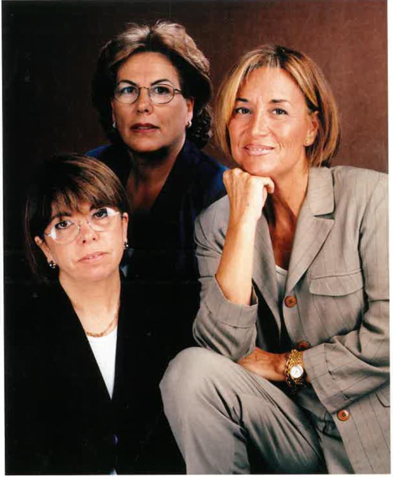 Romi Aldomà, Rosa Comellas i Carmen Lemus