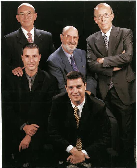 Josep Gallardo Linares, Jordi Costa Padrós, Liberto Espí Gaus, César Gallardo Fernández i Jordi Costa Claver