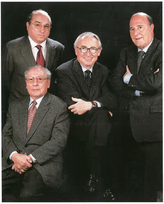 Joan Gimeno, Francesc Matosas, Emili Echevarria i Josep Ignasi Casanovas