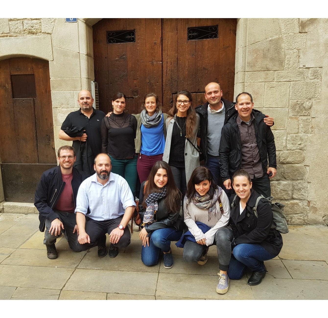 Andrés Martos, Leo Rojas, Gisela Selva, Koldo Crespo, Esther López, Silvia Romero y Miguel Gadea