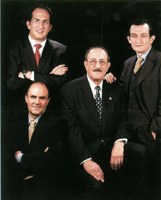 Srs. José Agustí Casanova, José Antonio Agustí Sánchez, Jorge Agustí Sánchez i Josep Currius Casas