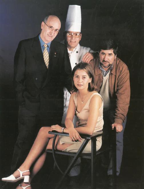 Srs. Benito León, Fernando Vázquez, Sònia Baró i Alfons Garcia