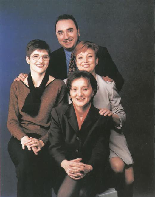 Srs. Mireia Rodamilans, Miguel Alija, Pilar Oyaga i Paquita Castro