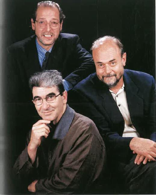 Srs. Pep Bonet, Enric Steegmann i Ignasi Tiana