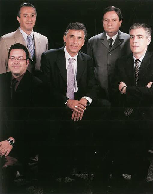 Srs. Jordi García, Julián Mañas, Pere Soler, Ignacio Aznárez i Miquel Sales